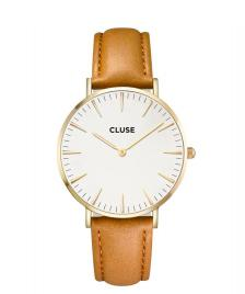 Cluse Cluse Watch La Boheme brown caramel/white gold
