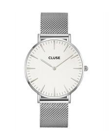 Cluse Cluse Watch La Boheme silver/white mesh
