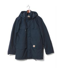 Carhartt WIP Carhartt Winterjacket Hickman Coat blue dark petrol washed