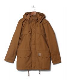 Carhartt WIP Carhartt Winterjacket Hickman Coat brown hamilton