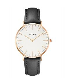 Cluse Cluse Watch La Boheme black/white rose gold