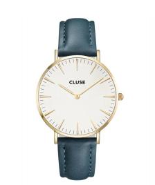 Cluse Cluse Watch La Boheme blue petrol/white gold