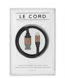 Le Cord Le Cord Charge & Sync Cable black leather/dark wood