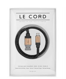 Le Cord Le Cord Charge & Sync Cable black leather/light wood