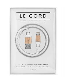 Le Cord Le Cord Charge & Sync Cable white leather/light wood