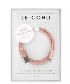 Le Cord Le Cord Charge & Sync Cable rose gold