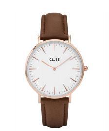 Cluse Cluse Watch La Boheme brown/white rose gold