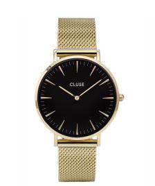 Cluse Cluse Watch La Boheme gold/black mesh