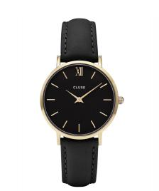 Cluse Cluse Watch Minuit black/black gold