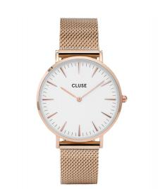 Cluse Cluse Watch La Boheme Mesh rose gold/white