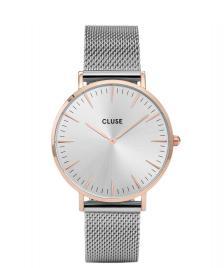 Cluse Cluse Watch La Boheme Mesh silver/silver rose gold