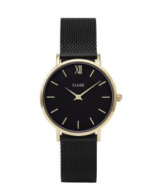 Cluse Cluse Watch Minuit Mesh black/black gold