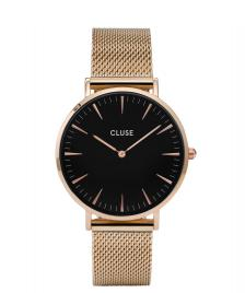 Cluse Cluse Watch La Boheme Mesh rose gold/black
