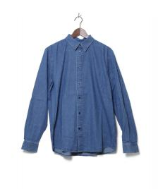 Wood Wood Wood Wood Shirt Flint blue heavy rinsed