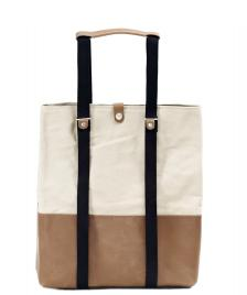 Qwstion Qwstion Bag Shopper brown leather canvas