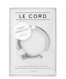Le Cord Le Cord Charge & Sync Cable 2 Meter silver