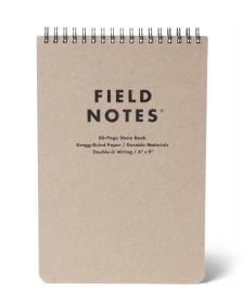 Field Notes Field Notes Ruled Steno Book brown original kraft