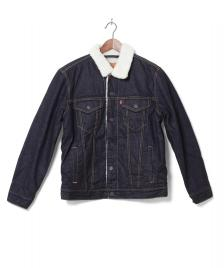 Levis Levis Denimjacket The Trucker Sherpa blue raw sherpa