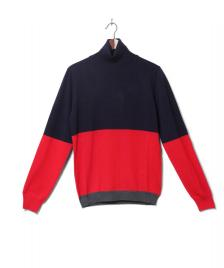 Wood Wood Wood Wood Roll Neck Jaques blue navy/red