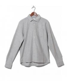 Wood Wood Wood Wood Shirt Oval grey light melange