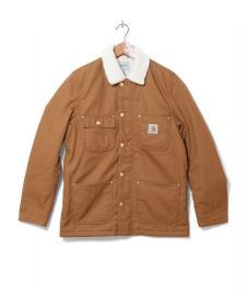 Carhartt WIP Carhartt WIP Winterjacket Fairmoun brown hamilton