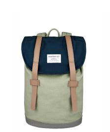Sandqvist Sandqvist Backpack Stig Mini multi blue/sage/grey