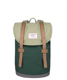 Sandqvist Sandqvist Backpack Stig Mini multi sage/forest green/grey