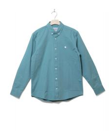 Carhartt WIP Carhartt Shirt Madison green soft teal/white