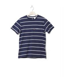 Levis Levis T-Shirt Classic Pocket Brick Stripe blue navy