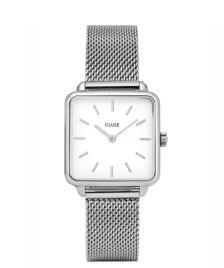 Cluse Cluse Watch La Tetragone Mesh silver/white