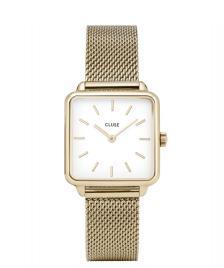Cluse Cluse Watch La Tetragone Mesh gold/white