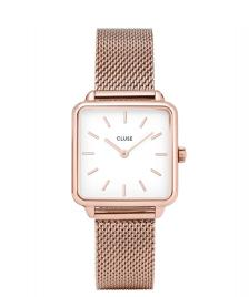 Cluse Cluse Watch La Tetragone Mesh rose gold/white