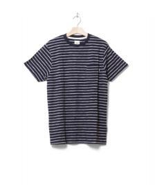 Wemoto Wemoto T-Shirt Blake Jaquard blue navy-white