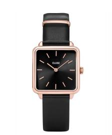 Cluse Cluse Watch La Tetragone black/black rose gold