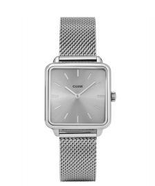 Cluse Cluse Watch La Tetragone Mesh silver full
