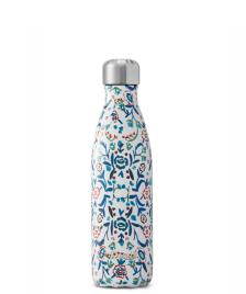 Swell Swell Water Bottle MD white blue cornflower