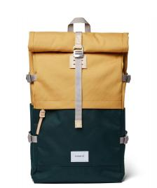 Sandqvist Sandqvist Backpack Bernt multi honey yellow/dark green