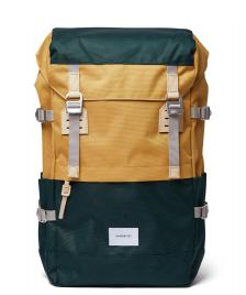 Sandqvist Sandqvist Backpack Harald multi honey yellow/dark green