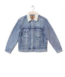 Levis Levis W Sherpa Jacket Trucker blue addicted to love