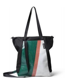 Freitag Freitag ToP Tote Bag Davian green/white/red