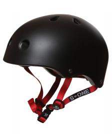S1 S1 Helmet Lifer black matte red straps