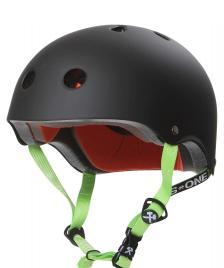 S1 S1 Helmet Lifer black matte green straps