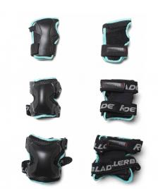 Rollerblade Rollerblade W Protection X-Gear 3 Pack black/aqua