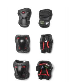 Rollerblade Rollerblade Kids Protection Skate Gear 3 Pack black/red