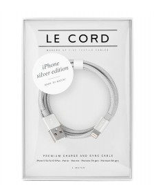 Le Cord Le Cord Charge & Sync Cable silver solid