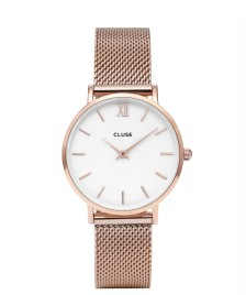 Cluse Cluse Watch Minuit Mesh rose gold/white