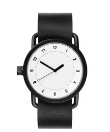 Tid Tid Watch No.1 black leather/white