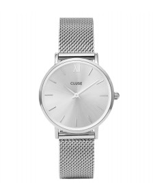 Cluse Cluse Watch Minuit Mesh silver full