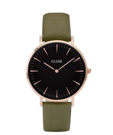 Cluse Cluse Watch La Boheme green olive/black rose gold