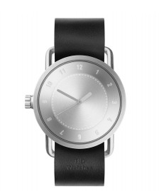 Tid TID Watch No.1 Steel black leather/silver silver